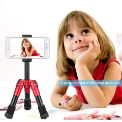 ZOMEi CK30 Aluminum Mini Tabletop Tripod with 360 Degree Panoramic Ball Head - Red
