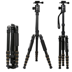 Z669 Lightweight Travel Tripod Monopod with Solid Ball Head and Carry Case as a Travel Companion