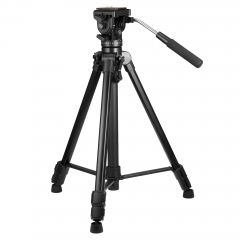 ZOMEi Video Tripod VT111 with Professional 360 Degree Fluid Damping Head and Fit for Panoramic Shooting - Suitable for DSLR Camcorder Video