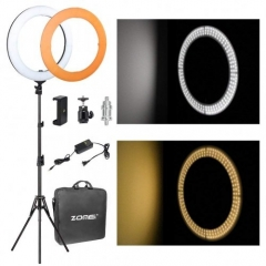 ZOMEi 14-inch LED Makeup Ring Light Videos Photography with Light Stand 3200-5500K