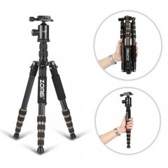 ZOMEi Ultra Travel Tripod with Twist Locks - Enough Compact and Sturdy for Outdoor Long-exposure Images Shooting
