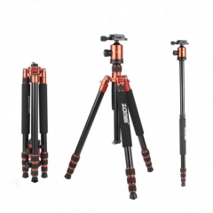 ZOMEi Z818 / Z888 Professional Robust Tripod Support 65 Inch Versatile for Professional Photographic Shooting for Canon Nikon Sony Cameras - Orange