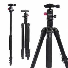 ZOMEi M3 BLACK Tripod with Monopod Compact Ball Head Tripod Kit 62.5 Inch for Wedding and Party Photography with Monopod Conversion