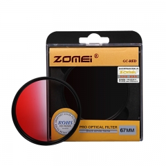 ZOMEi Ultra 52MM-82MM GC-RED Gradient  Filter