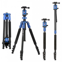ZOMEi M7 Stable Camera Tripod Range from 22-inch to 67-inch with Adjustable-height Quick Flip Lock Legs for Bird and Landscape Photography-Blue