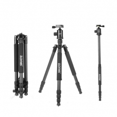 ZOMEi Z818C Carbon Fiber Camera Tripods for Digital DSLR Cameras with Quick Release Plate and Ball Head (Black)