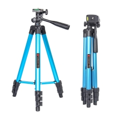 Tairoad 50 Inch Light Weight Portable Travel Tripod for Fishing Light, Mini Projector, Security Camera, Tiny Camera Telescope with Carrying bag(blue)