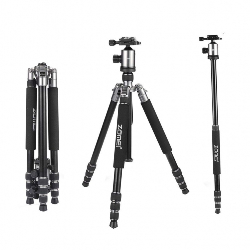 ZOMEi Z818 / Z888 Heavy Duty Camera Tripod 65 Inch for Professional Photographic Shooting for Landscape and Food Photography - Silver