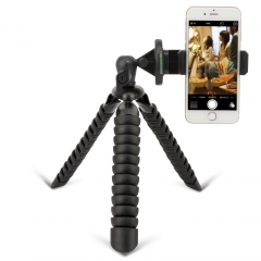 ZOMEI Flexible Mini Tripod with Quick Release Plate Tripod Mount Adapter for Smartphone Gopro Black