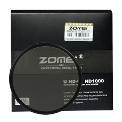 ZoMei Ultra Slim HD 18 Layer Super Multi-Coated S chott Glass PRO Density Neutral Gray ND1000 Lens Filter - 52-82mm