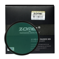 ZoMei 52-82mm HD ND2-ND400 ND2-400 Fader Variable Density Neutral Adjustable Lens Filter Ultra Slim ND Filter German Optical Glass