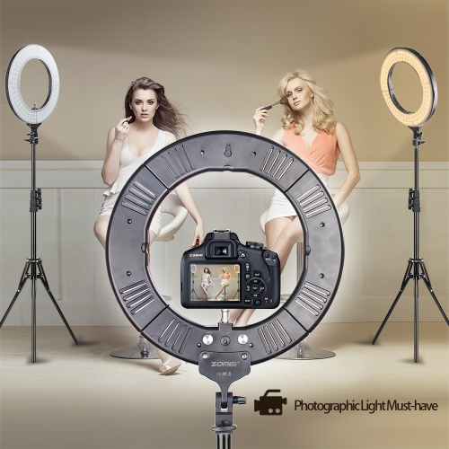 ZOMEi 18-inch LED Ring Light with Light Stand Dimmable for Video YouTube Photography