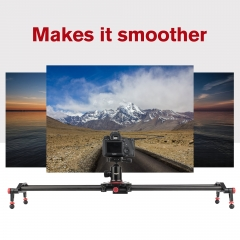 Zomei 60cm-120cm Carbon Fiber Camera Track Dolly Slider Rail System with  Load Capacity for Stabilizing Movie Film Video Making Photograph