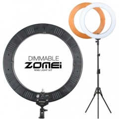 ZOMEi 14/18-inch Fluorescent LED Ring Lights Kit 50W with Tripod Stand and Phone Holder for Makeup Lighting and YouTube Lighting