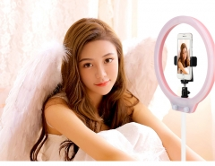Perfect Christmas Gift for Girls -- Zomei 10'' Table Dimmable Selfie & Live Ring Light with Ball Head, Cell Phone Holder as A Christmas Gift