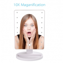 Makeup Mirror with LED Lights - Vanity Mirror with Lights with 10X Magnifying, Cosmetic Mirror, USB Lighting