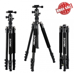 ZOMEi Q555 Lightweight Travel Tripod Kit 63-inch for Family Gatherings and Sports Activities Indoor and Outdoor Photography