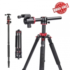 ZOMEi M8 Professional Camera Tripod 72-inch with Extension Arm Monopod Conversion for Faster Composition and Video Shooting