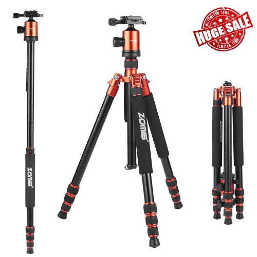 ZOMEi Z818 / Z888 Professional Robust Tripod Support 65 Inch Versatile for Professional Photographic Shooting for Canon Nikon Sony Cameras