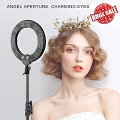 Best Christmas Gift -- ZOMEi 14-inch LED Ring Light Makeup Portrait and Photography Lighting with Halo Circle and Bi-color Control