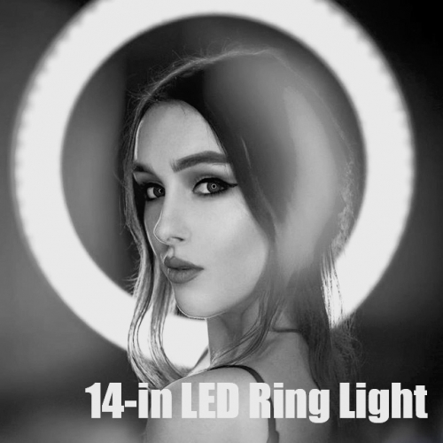 Best New Year Gift -- ZOMEi 14-inch LED Ring Light Makeup Portrait and Photography Lighting with Halo Circle and Bi-color Control