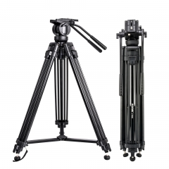 ZOMEI VT666 Professional Heavy Duty DV Video Camera Tripod with Fluid Pan Head