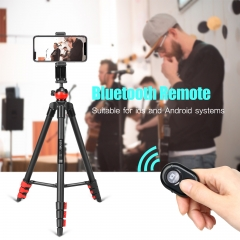 ZOMEi Phone Tripod, Cell Phone Tripod Camera Tripod with Remote Cellphone Holder Mount 360 Panorama Ball Head for Camera GoPro/Mobile Cell