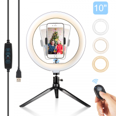 "ZoMei 10"" LED Ring Light with Stand, Phone Holder, 360° Ball Head, and By Remote"